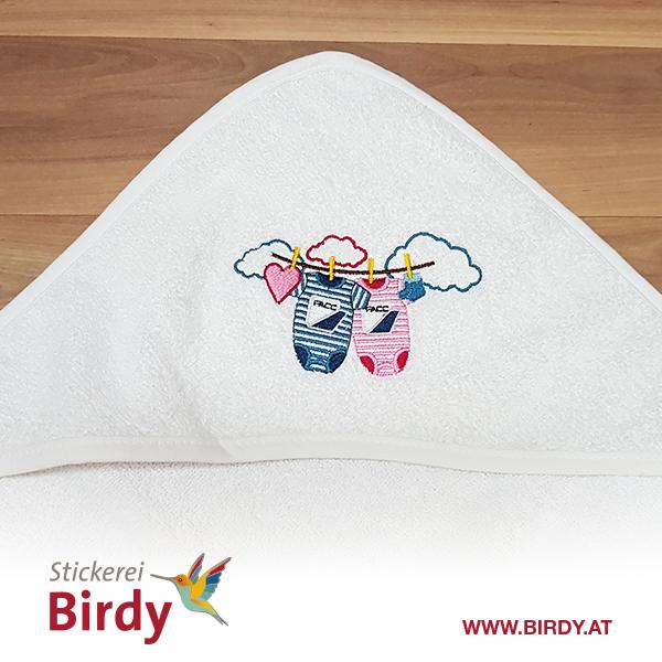 Kinderdecke bestickt von birdy