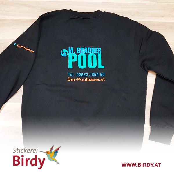 Pullover mit besticktem Logo von birdy