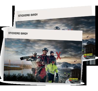 Stickerei Birdy Bestseller Katalog
