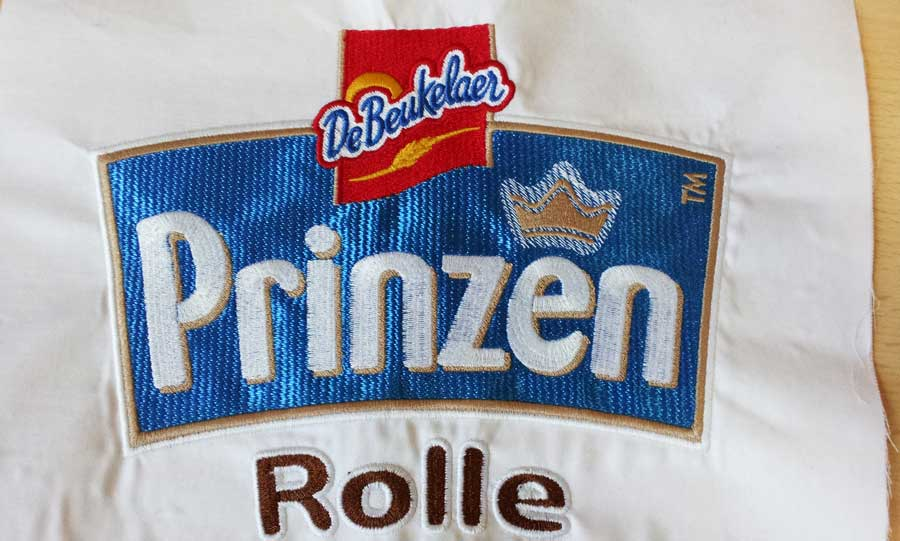 Besticktes Logo Prinzen Rolle